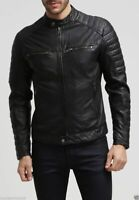 NOORA Men's Motorcycle Stylish  Genuine Lambskin Real Leather Biker Jacket NI-5