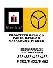Ersatzteilliste für IHC Schlepper 323+383+423+453+E383+E423+E453