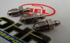 3 x HEL Performance Stainless Steel Motorcycle Bike Car Bleed Nipple M10 x 1.00