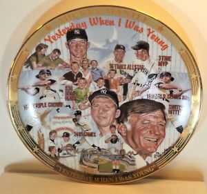 """MICKEY MANTLE 1996 Sports Impressions """"Yesterday..."""" 8.5"""" #d Edition Plate #264/"""