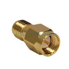 10 X SMA Male Plug To SMA Female Jack RF Connector Adapter Straight Gold Plating