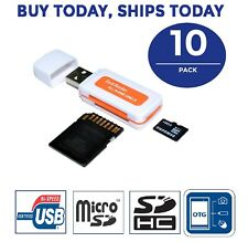 10x Lot All In One Micro SD to USB Multi-Card Memory Card Adapter Reader
