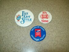 Vintage BEER Variety/Various Pinback Buttons (Lot of 3)