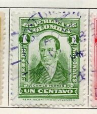 Colombia 1917 Early Issue Fine Used 1c. 097655