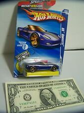 Hot Wheels Blue C6 Corvette - Faster Than Ever #5 - With Keychain - 2010