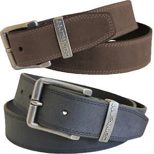 """Carhartt Leather Belt Men's Jefferson 1-1/2"""" Black or Brown Work Belts"""