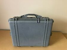 """Pelican 1600 Camera Case 24"""" x 19"""" x 8.5"""" Gray w/padded dividers"""