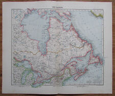 Ost Canada Nordamerika - alte Landkarte aus 1906 Stielers Handatlas old map