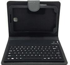 Pelle Nero Bluetooth Tastiera Custodia Folio Copertura SAMSUNG P3200 GALAXY TAB3 7.0
