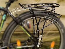 Fahrrad-Gepäckträger 28 Zoll 26 Fahrradtaschen geeignet einstellbar schwarz Alu