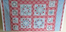 "1 Colorful ""Honey Berries"" Cotton Multi-Color Quilting Crafting Fabric Panel"