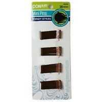 Conair Styling Essentials Secure Hold Mini Bobby Pins, Brown 36 ea (Pack of 3)