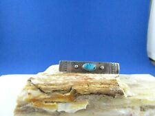 Navajo Sterling silver turquoise men tie clip nice looking piece for you!