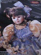 1999 Cecile et Christine Doll Ad Mundia Collection ELISABETH Advertisement ONLY