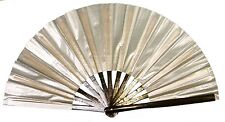 Silver hand fan, Tai Chi Fan, tessen, wushu, belly dancing performance fan.
