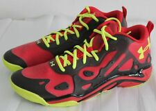 UNDER ARMOUR MICRO G ANATOMIX SPAWN LOW MEN'S BASKETBALL SHOES 14 RED/BLACK