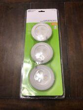 Led White Battery Puck Light 3 Pack Lights Kitchen Under Cabinet Lighting Set