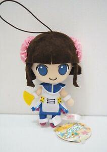 "Pop'n Music RINKA Eikoh Plush 5"" Mascot Strap Pugyutto Toy Doll TAG Japan"