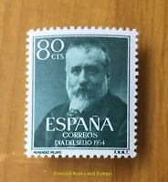 EBS Spain España 1954 Stamp Day - Marcelino Menendez y Pelayo 1038 MNH** cv $23