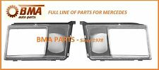 New Mercedes W124 Headlight Door Set -Left & Right With Lens for Fog Lamp