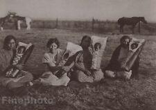 1900/72 Photogravure NATIVE AMERICAN INDIAN Mothers & Babies EDWARD CURTIS 11x14