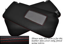 RED STITCH FITS NISSAN NAVARA D22 2001-2004 2X SUN VISOR LEATHER COVERS ONLY