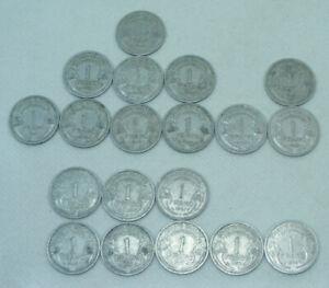 Serie de 19 pieces 1 Franc Alu MORLON 1941 à 1959 toutes differentes