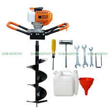 """2.2HP 52CC Gas Powered Post Hole Digger with 4""""/ 8""""/10"""" Earth Auger Power Engine"""