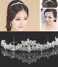 Tiara Diadem Blumen Blüten Kranz Haarschmuck Kopfschmuck Braut Strass Hochzeit