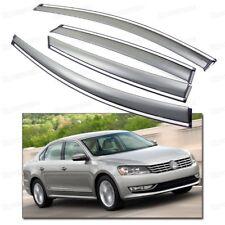 4Pcs Window Visor Vent Shade Rain/Sun/Wind Guard for 2012-2015 13 14 VW Passat