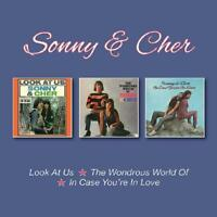 Sonny & Cher - Look At Us/Wondrous World Of/In Case You're In Love (3CD)  NEW