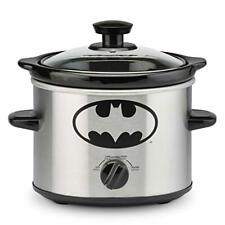 DC Batman 2 Quart Slow Cooker Crock Pot Variable Cooking Settings Glass Lid