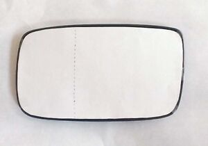 VOLVO 240 244 drivers side mirror glass convexed wide angle with backing plate