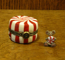 Boyds Treasure Box #4022281 Sugar'S Peppermint Candy w/ Mintley McNibble 1st Ed