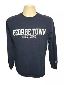 Georgetown University Medicine Adult Medium Blue Long Sleeve TShirt