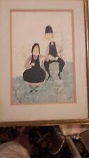 P. Buckley Moss S/N 1979 Amish Children LE 3821000 IN GOLD FRAME