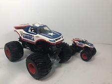 Captain America Hot Wheels Monster Jam Monster Truck 1:24 With Bonus Truck