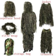 Adult Bionic Woodland Camo/Camouflage 3D Hunting Yowie Ghillie Burlap Suit Large