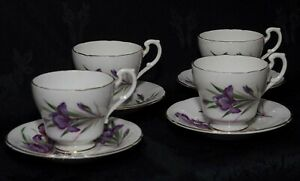 4 X PARAGON FINE BONE CHINA CUPS AND SAUCERS