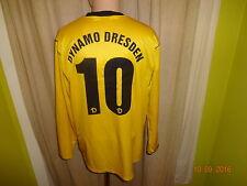 "DINAMO Dresda NIKE MANICA LUNGA u23 Matchworn Trikot 2005/06 ""grani"" + N. 10 Taglia L"