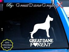 Great Dane PARENT(S) #2 - Vinyl Decal Sticker / Color Choice - HIGH QUALITY