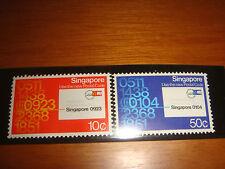 Singapore 1979 Postal Code, 2v set, MNH