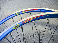 "Wheelset MAVIC CXP 33 RITCHEY WCS 28"" VINTAGE Clincher 8 speed shimano NOS BLUE"