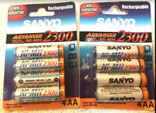 Sanyo 8 x AA 2300mAh Ni-MH Rechargeable Battery, 2 Packs of 4 NiMH batteries