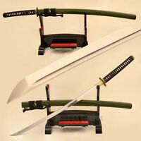 Full Tang Real Handmade Samurai Katana Japanese Sword 1095 Steel Blade Sharp