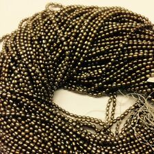 3x4mm Rise, Fresh Water Pearl Antique Brass Color, 15.5''.  WP480-4
