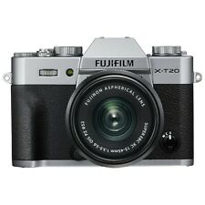 Fujifilm X-T20 Mirrorless Camera with XC 15-45 mm f/3.5-5.6 OIS PZ Lens - Silver