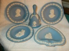 Blue Wedgwood 3 Amax Plates Bell Spade Dish Jasper Ware England Excellent Cond.