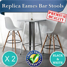 BRAND NEW Replica Eames Effiel DSW Bar Stools in Black and White x 2