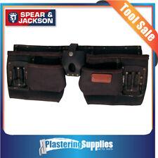 Spear & Jackson Tool Apron Nail Bag 10 Pocket Leather Builders Sj-lpba10